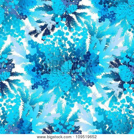 Winter frozen pattern