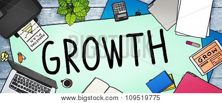 Growth Improvement Grow Increase Process Concept