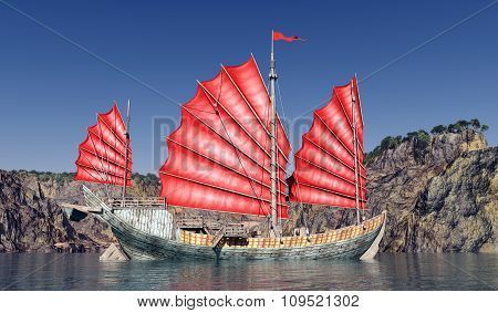 Chinese junk ship