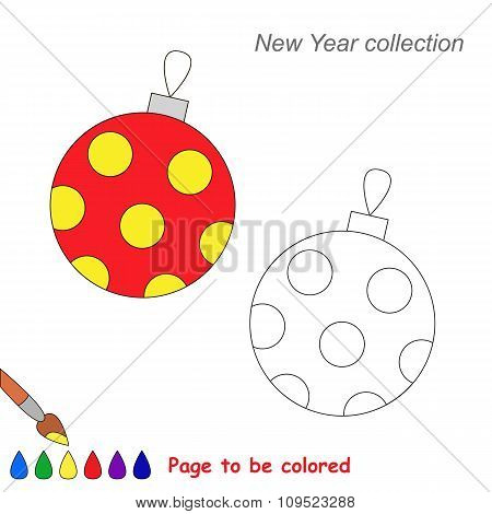 Glass ball vector cartoon to be colored.