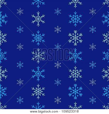 Winter Seamless Snowflake Pattern. Vector EPS 10.