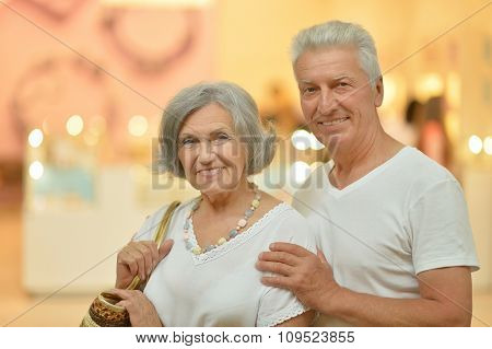 couple at shopping mall