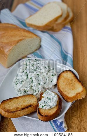 Toasts With Cottage Cheese