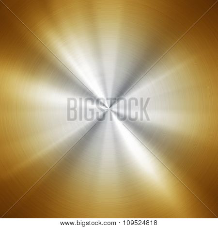 polished gold metal plate