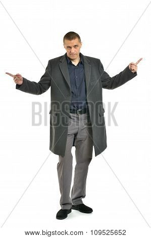 attractive man pointing