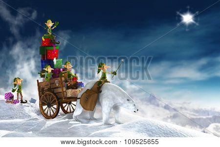 Santa Claus merry Christmas illustration