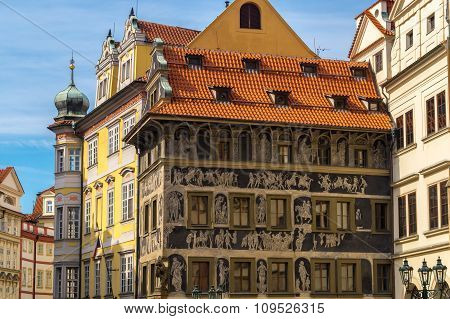 Historic Houses In The Centre Of Prague