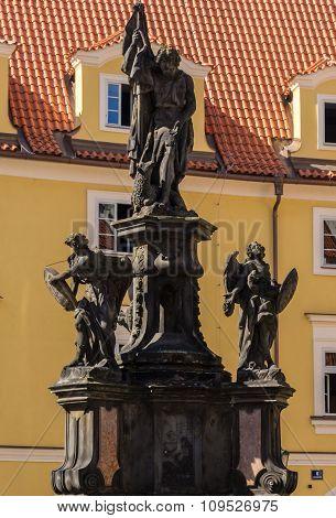 Monument Near Church Virgin Mary In Prague