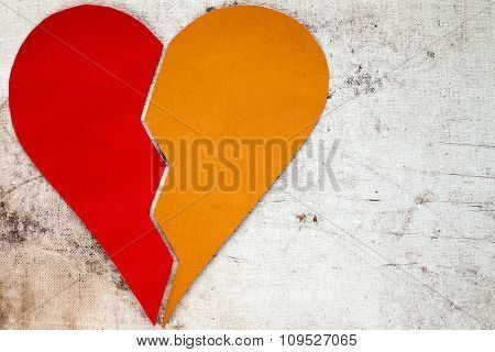 Red And Yellow Parts Of Heart