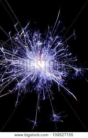 Christmas, Festive Blue Sparkler
