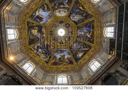 Interiors Of Medici Chapel, Florence, Italy