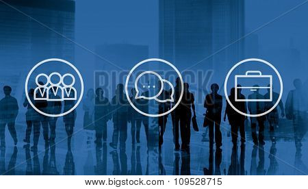 Corporate Business Teamwork Communication Collaboration Concept