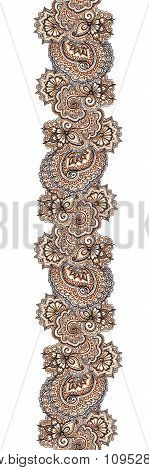 Marker painted decorative ornamental border. Repeating ornate frame