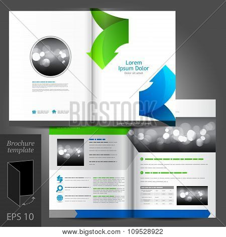 White Brochure Template Design