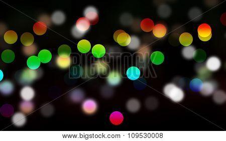 bokeh lights as background on black