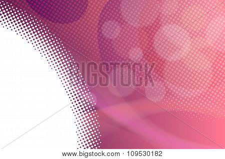Abstract background gradient pink lines circles vector