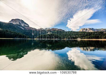 Panorama Of Black Lake ( Crno Jezero),durmitor, Montenegro