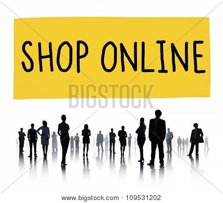 Shop Online Digital Internet Delivery Technology Concept