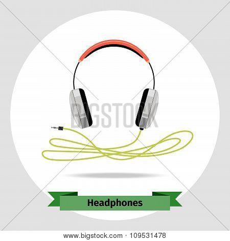 Headphones vector isolated illustration