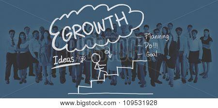Growth Success Achievement Business Planning Concept