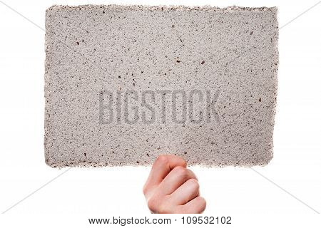 Handmade Paper In Woman Hand