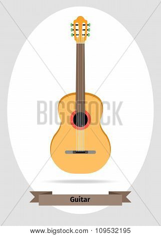 Musical instrument classical acoustic guitar