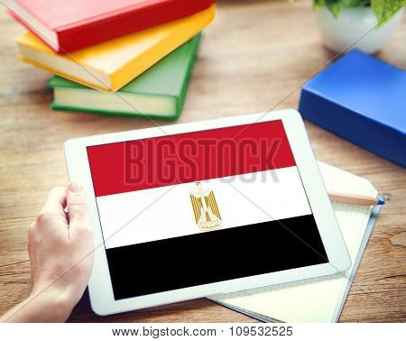 Egypt Flag Country Nationality Liberty Concept