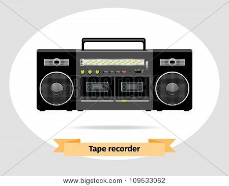 Audio tape recorder retro