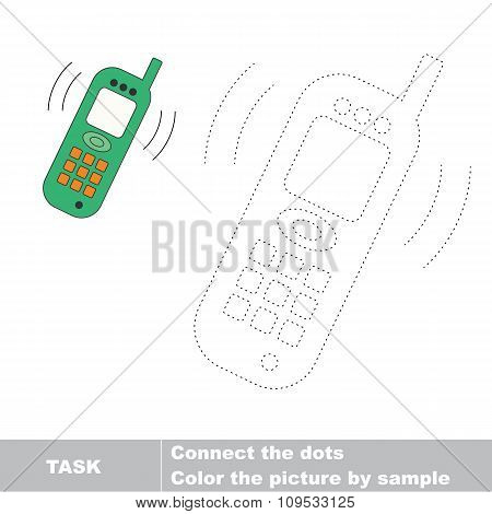 Telephone to be traced. Vector trace game.