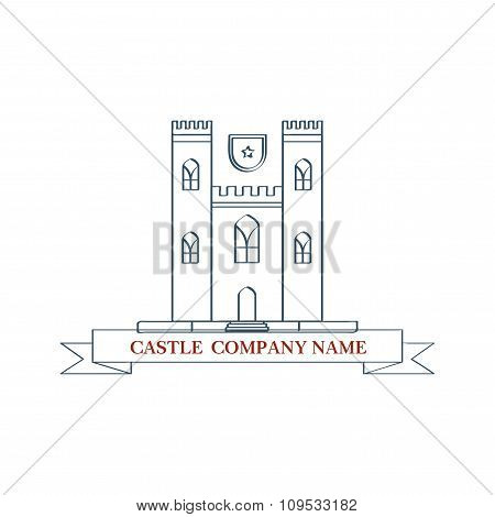 vector castle. Perfect logo for luxury travel Agency. Isolated illustration