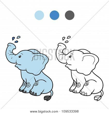 Coloring Book For Children: Elephant
