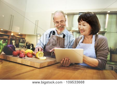 Couple Cooking Togetherness Relationship Concept