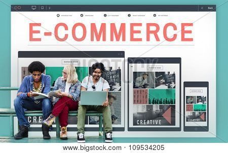 E-business E-commerce Business Responsive Design Concept