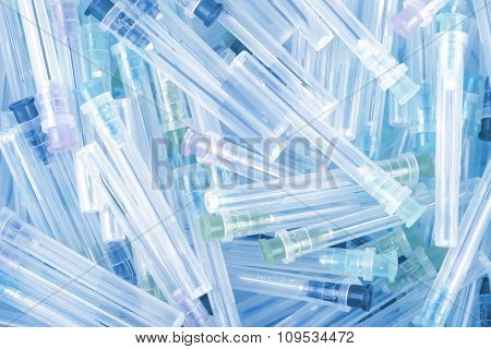 Medical Needles In Pile