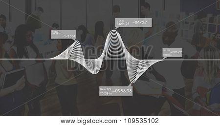 Diagram Graphs Information Statistics Stock Data Concept