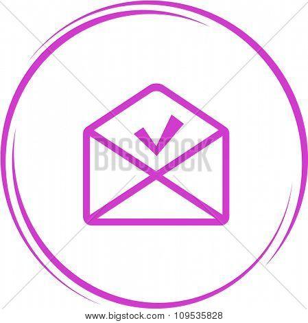 mail ok. Internet button. Raster icon.