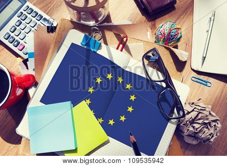 European Union Country Flag Nationality Culture Liberty Concept