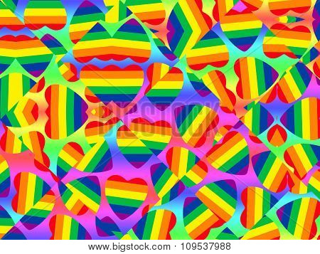 Gay Pride Symbol Abstract Background.