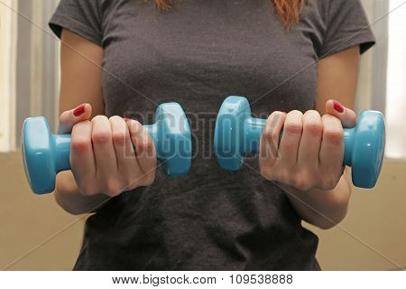 lady doing fitness workout