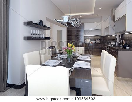 Dining And Kitchen Modern Style