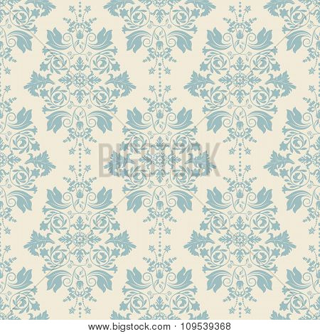 Vector classic wallpaper, damask background