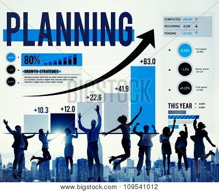 Planning Business People Achievement Analysis Data Research Management Concept