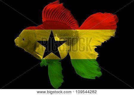 Flag of Ghana on goldfish