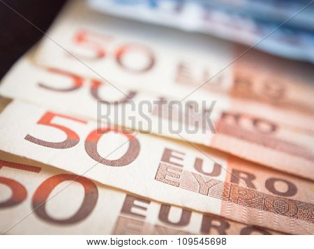 Euros With Dark Background