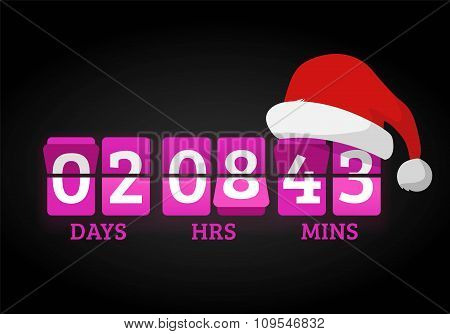 Christmas clock timer digits board panels