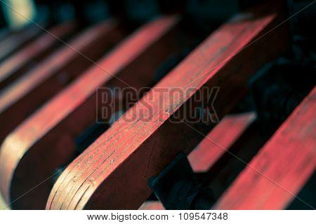 Red Machinery Close