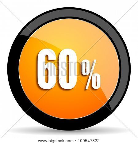 60 percent orange icon