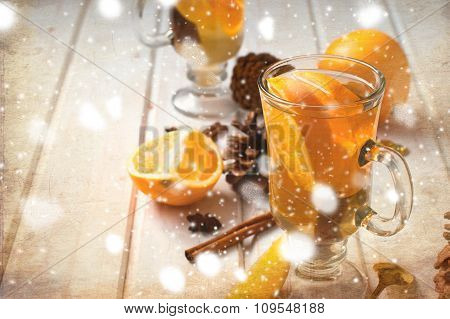 Vfragrant Tea With Orange And Cinnamon