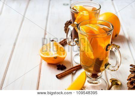 Fragrant Tea With Orange And Cinnamon