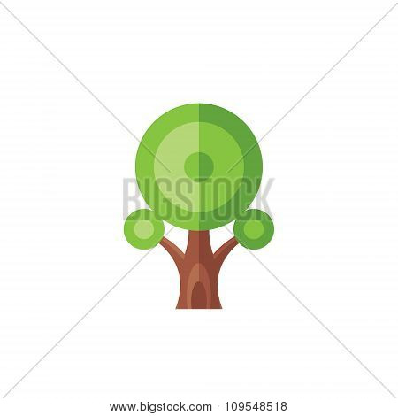 Tree - creative vector illustration. Abstract green tree concept illustration. Geometric tree sign.